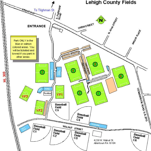Occ Southfield Campus Map.Playing Facilities