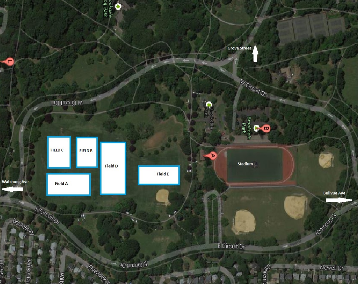 playing facilities driving map
