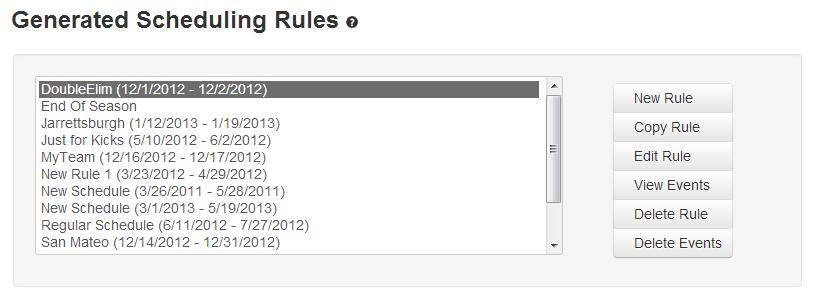 schedule generator leagueathletics com documentation